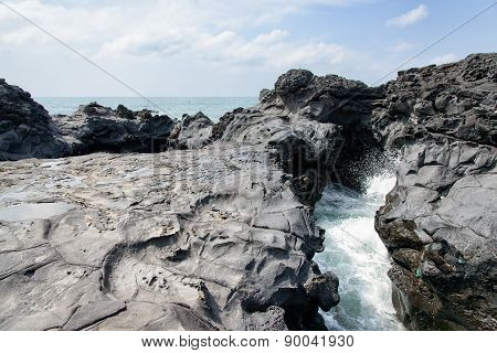 Landscape Of Coast In Jeju, Korea.