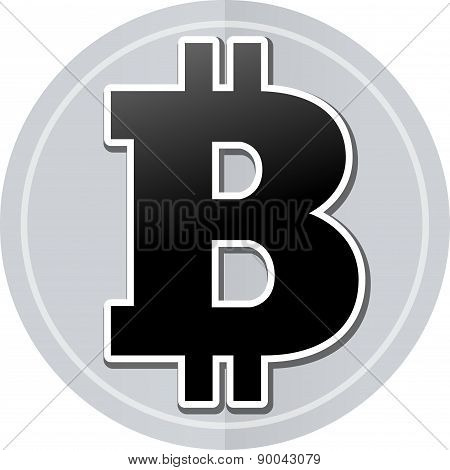 Bitcoin Sticker Icon