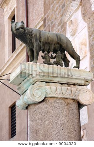 Romul And Remus In Rome, Italy