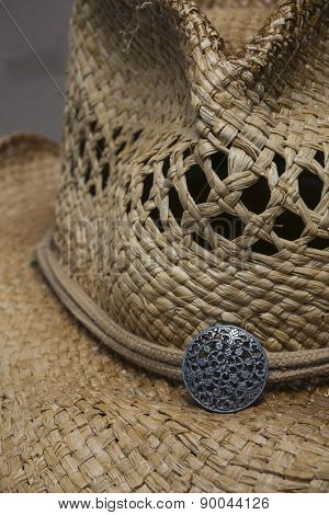 Western Style Straw Cowgirl Hat