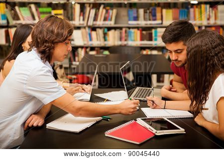 Study Group In A Library