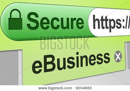 Secure web business transaction