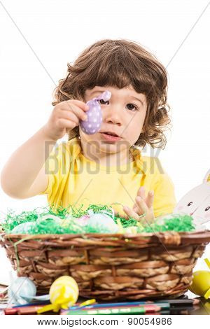Toddler Boy Showing Easter Egg