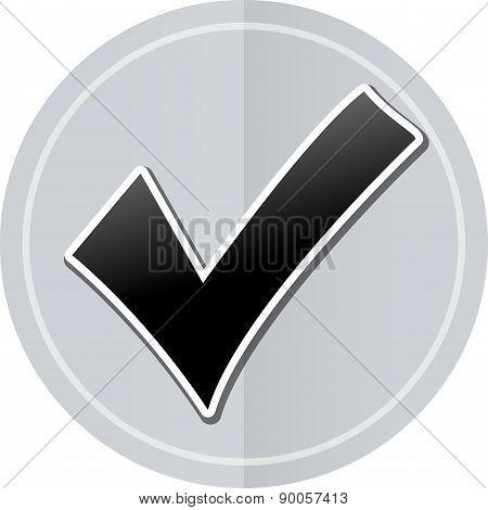 Checkmark Sticker Icon
