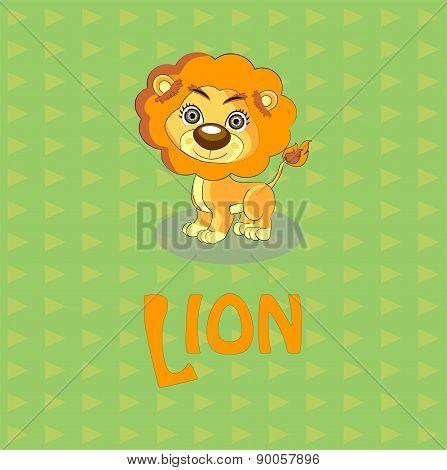 cute lion vector illustration