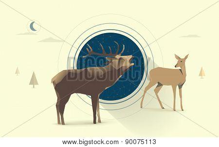 night deer love
