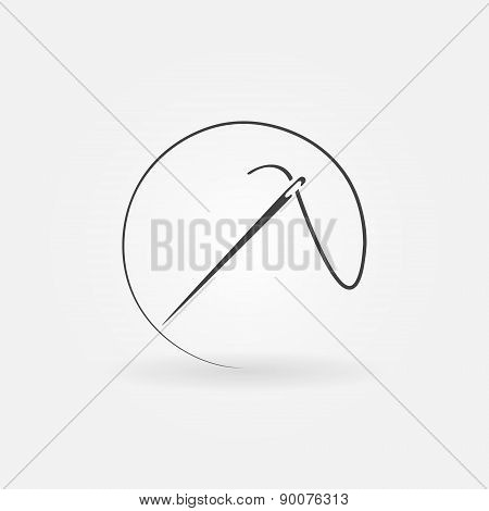 Needle vector icon or logo