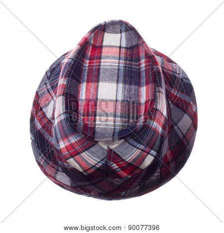 Hat With Fields In Isolated On White