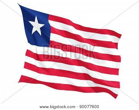 Waving Flag Of Liberia