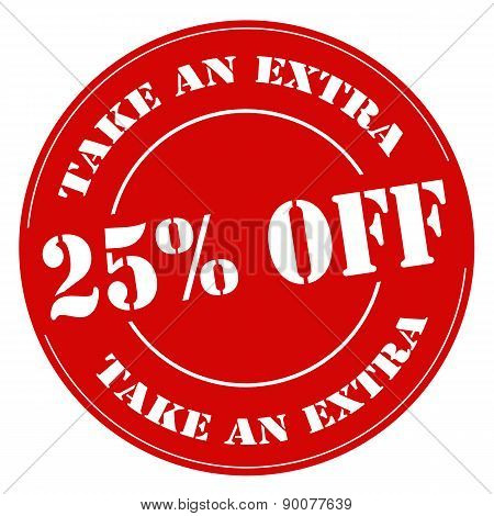 Take An Extra 25% Off-stamp