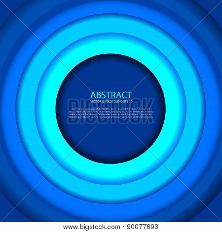 Abstract Circle Blue