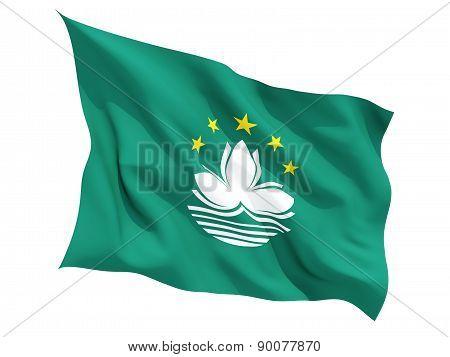 Waving Flag Of Macao