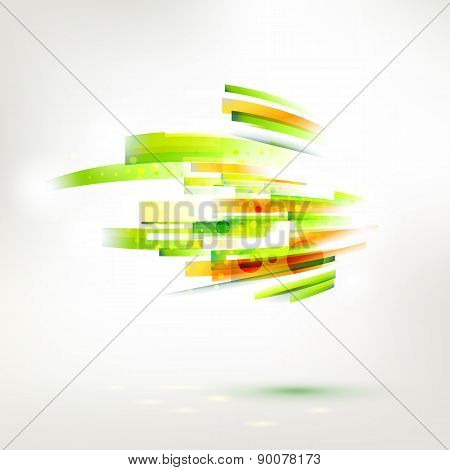 Abstract Color Wave Element, Living Lines Illustration