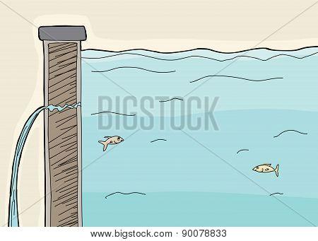 Fish In Leaking Dike