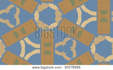 Rectangular Brown Shapes In Pattern