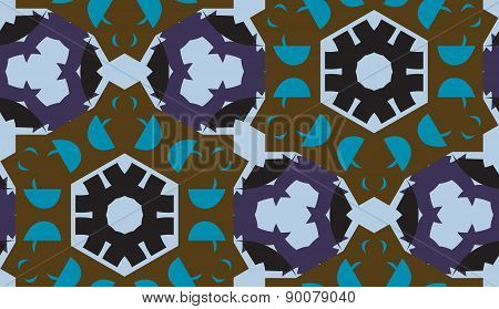 Decorative Blue Repeating Pattern