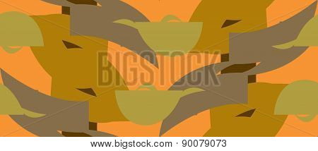 Orange Repeating Abstract Pattern