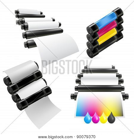 Printing machine set