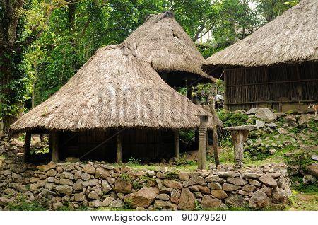Ethnic Straw Village On An Timor Island