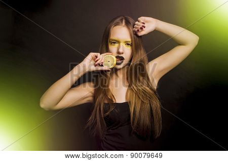 Girl With Lemon