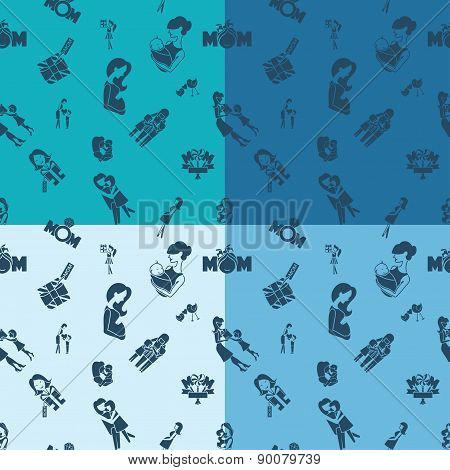 Mothers Day Seamless Pattern