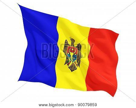 Waving Flag Of Moldova