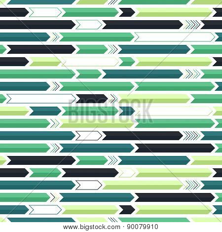 Green, lime and blue arrows pattern