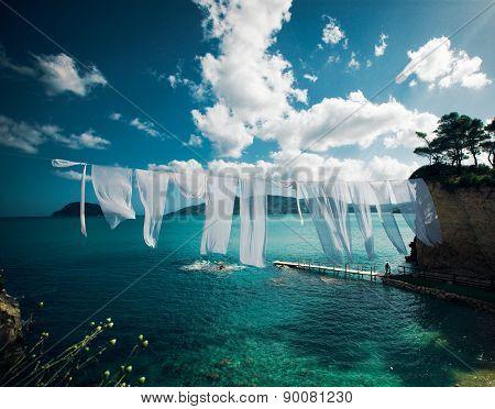 travel, vacation concept - Agios Sostis (Cameo), small island in Greece, Zakynthos