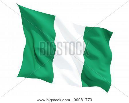 Waving Flag Of Nigeria