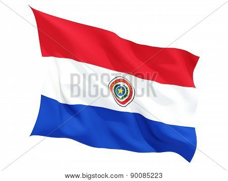 Waving Flag Of Paraguay