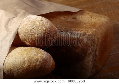Loafs Of White And Rye Bread