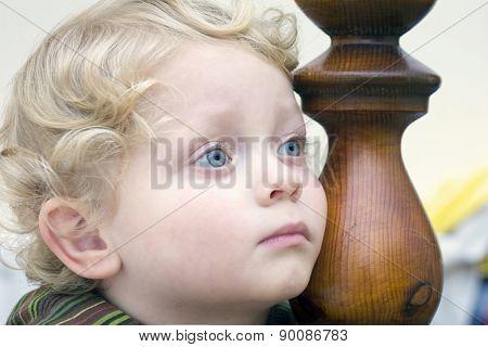 Pensive Little Boy
