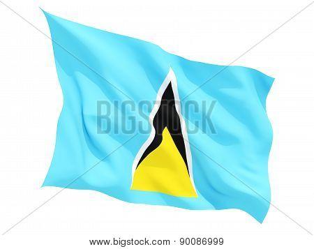 Waving Flag Of Saint Lucia