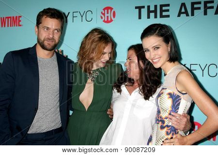 "LOS ANGELES - MAY 6:  Joshua Jackson, Ruth Wilson, Maura Tierney, Julia Goldani Telles at ""The Affair""  Event at the Samuel Goldwyn Theater on May 6, 2015 in Beverly Hills, CA"
