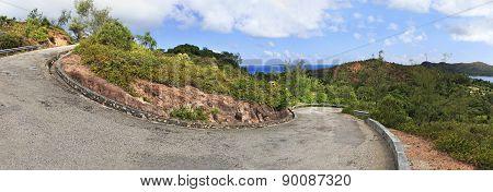 Panorama of scenic road on Mount Zimbvabve.