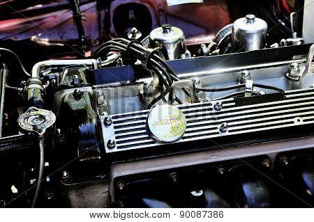Detail Of An Engine Jaguar Xj