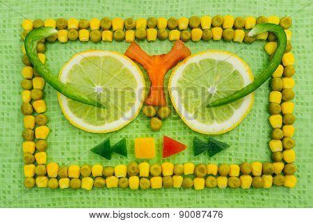Peas Corn Background
