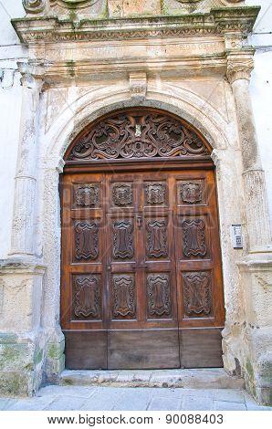 Wooden door. Martina Franca. Puglia. Italy.