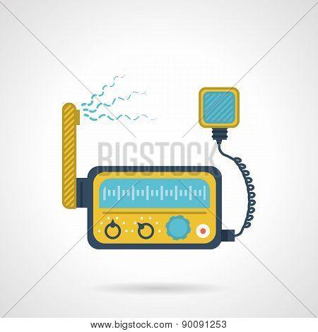 Radio transceiver flat vector icon
