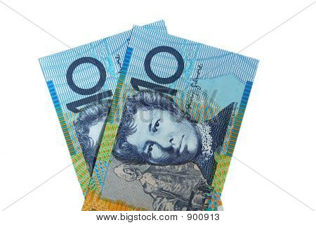 Two Australian Ten Dollar Notes