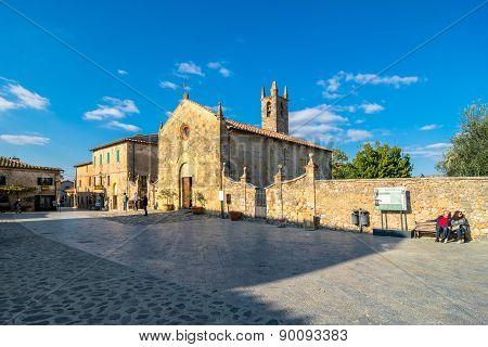 Main Square In Monteriggioni, Siena