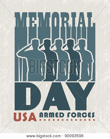 America USA Memorial Day Patriotic Vector