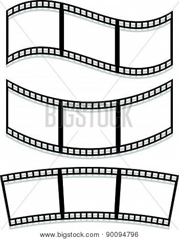 Filmstrips Isolated On White With Transparent Shadows