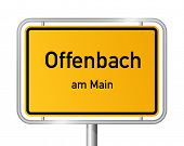 City limit sign Offenbach on the Main - signage - Germany poster