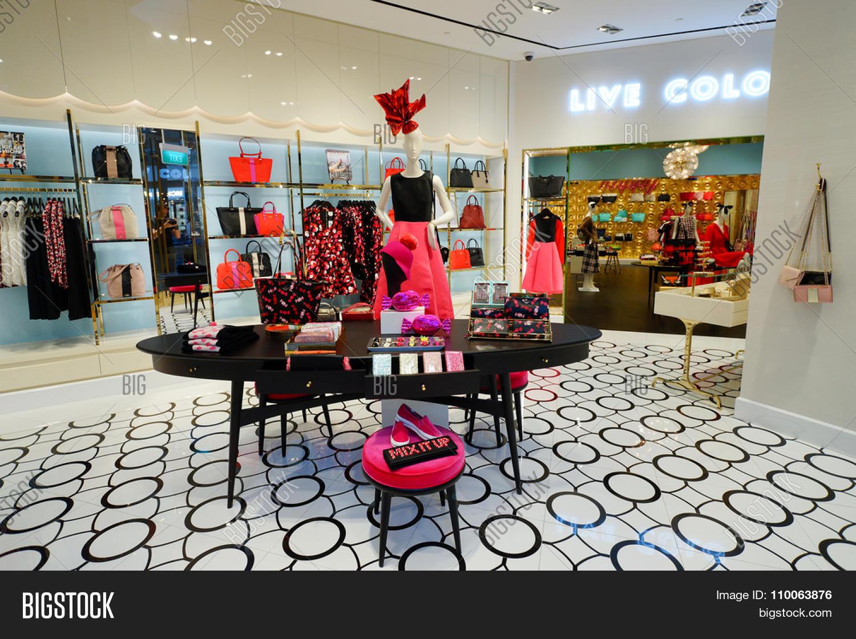 SINGAPORE   NOVEMBER 08, 2015: Interior Of Kate Spade Store. Kate Spade New