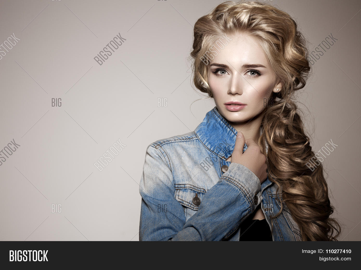 Model Long Braided Image Photo Free Trial Bigstock
