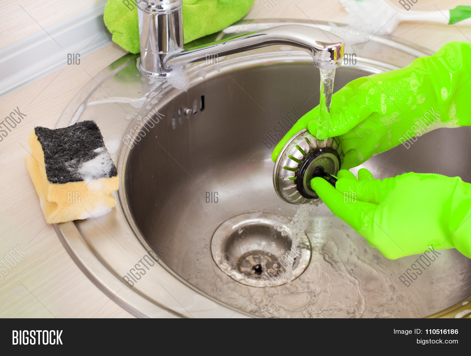 Cleaning Kitchen Sink Drain Cleaning kitchen sink drain image photo bigstock cleaning kitchen sink and drain workwithnaturefo