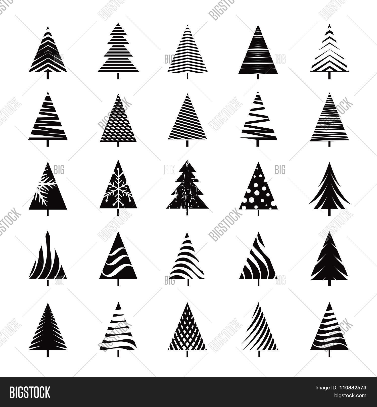 Set Black Christmas Vector Photo Free Trial Bigstock