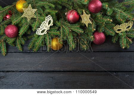 Christmas Tree Branch And Decoration