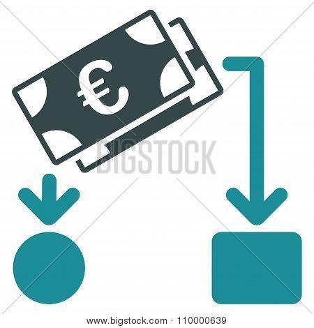 Euro Cash Flow Icon